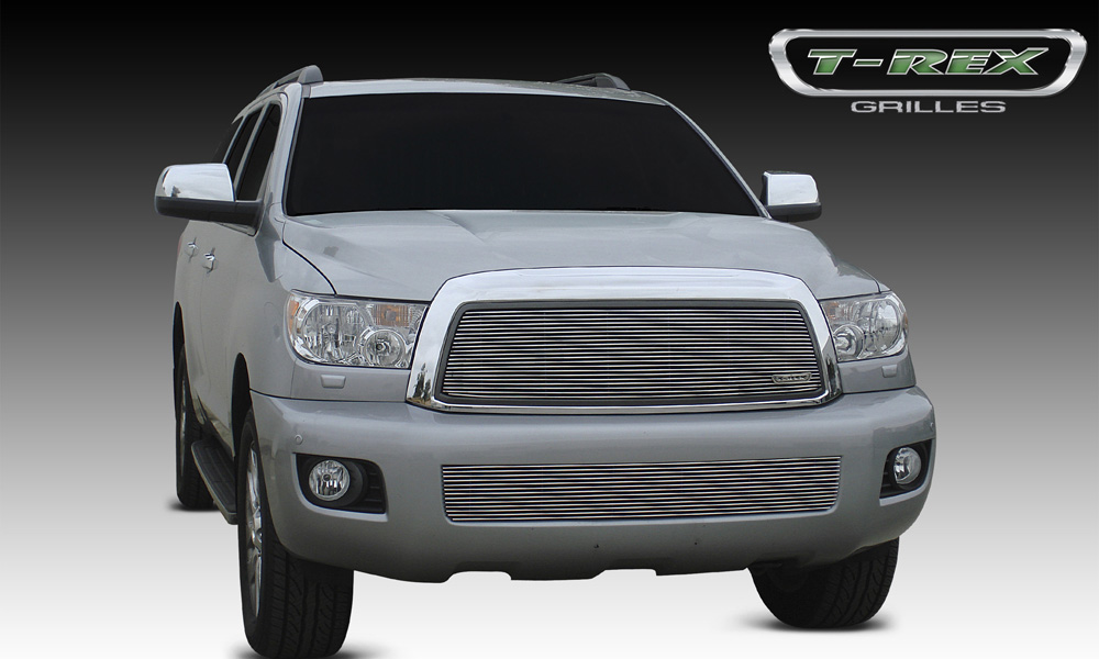 Sequoia Grille Insert 08-14 Toyota Sequoia Aluminum Polished 1 Piece Billet Series T-REX Grilles - 20903