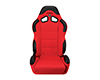 Image of Corbeau CR1 Reclining Seat in Red Cloth 20907