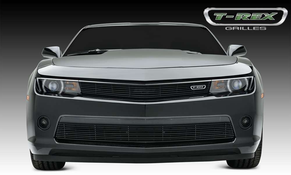 Camaro RS Grille Overlay 14-15 Chevrolet Camaro RS Aluminum Powdercoat Black 1 Piece Billet Series T-REX Grilles - 21031B