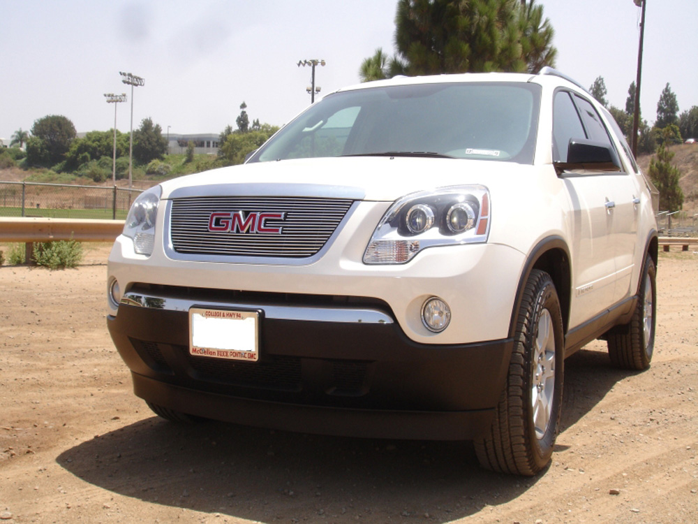 Acadia Grille Overlay 07-12 GMC Acadia Aluminum Polished Billet Series T-REX Grilles - 21386