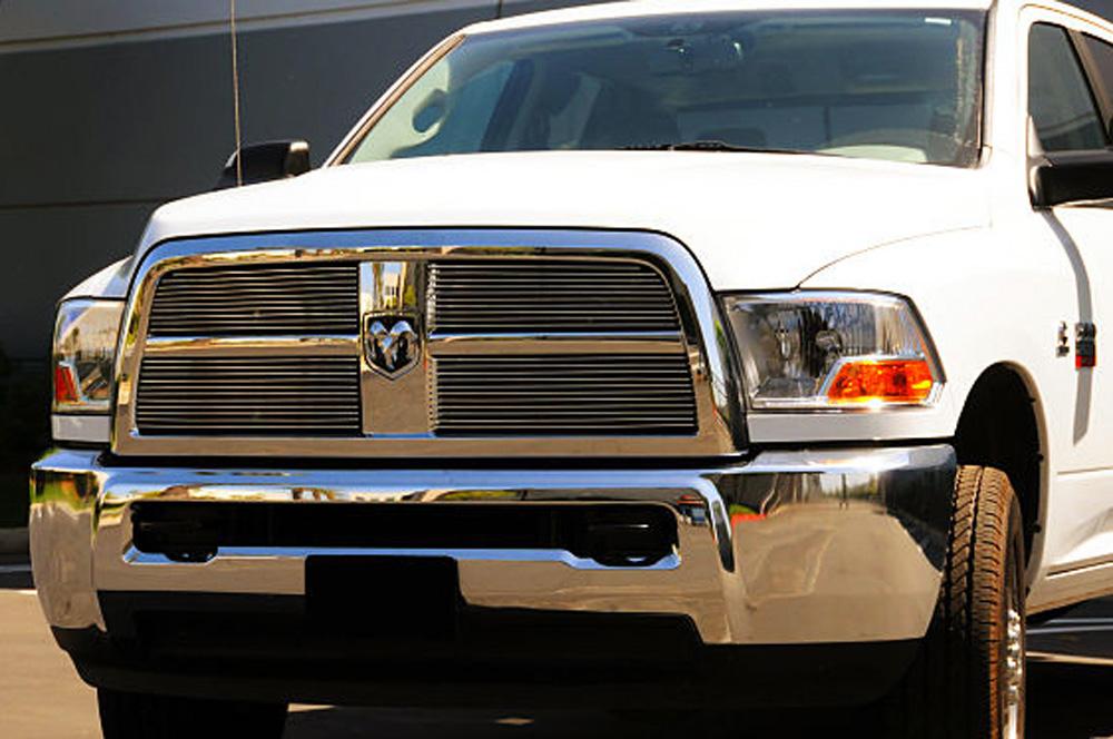 Ram 2500/3500 Grille Overlay 10-12 Dodge Ram 2500/3500 Aluminum Polished 4 Piece Billet Series T-REX Grilles - 21451