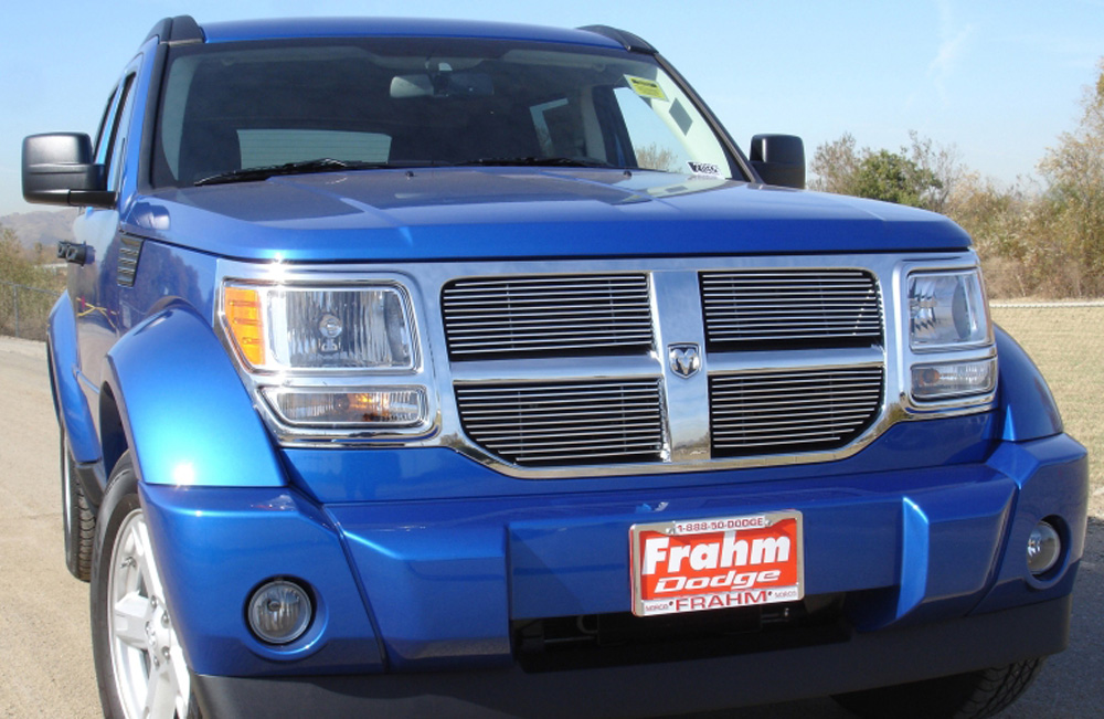 Nitro Grille Overlay 07-12 Dodge Nitro Aluminum Polished 4 Piece Billet Series T-REX Grilles - 21478