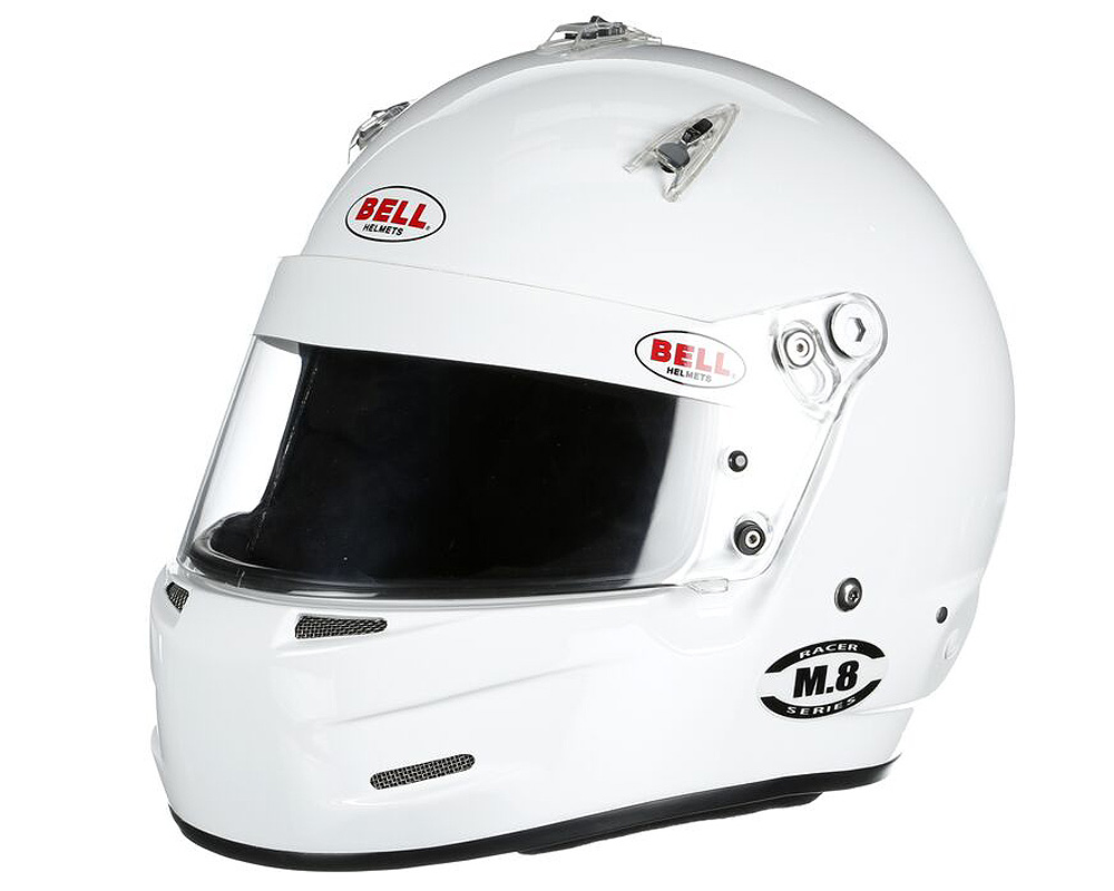 Bell Racing M.8 White Helmet 67-68 | 4XL SA2015