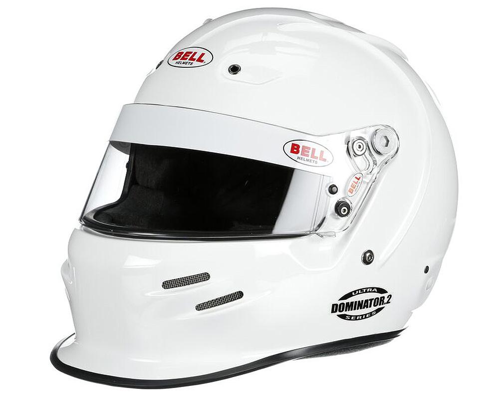 Bell Racing Dominator.2 White Helmet 61 | 7 5/8 SA2015 | FIA8859-2015