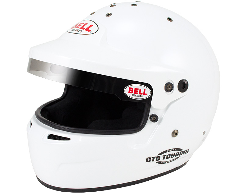 Bell Racing GT.5 Touring White Helmet 61 | 7 5/8 SA2015 | FIA8859-2015