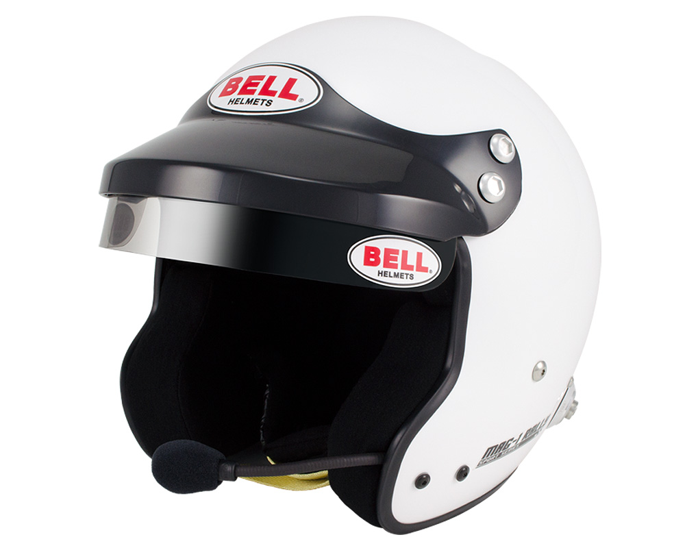 Bell Racing Sport Mag Rally White Helmet 61 | XL SA2015 | FIA8859-2015
