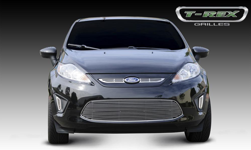 Fiesta Grille Overlay 11-13 Ford Fiesta Aluminum Powdercoat Black 2 Piece Billet Series T-REX Grilles - 21588