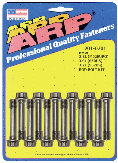 ARP Pro Series M9 44mm UHL Rod Bolt Kit BMW 2.8L M52Euro | 3.0L S50US | 3.2L S52US inline 6 - 201-6201