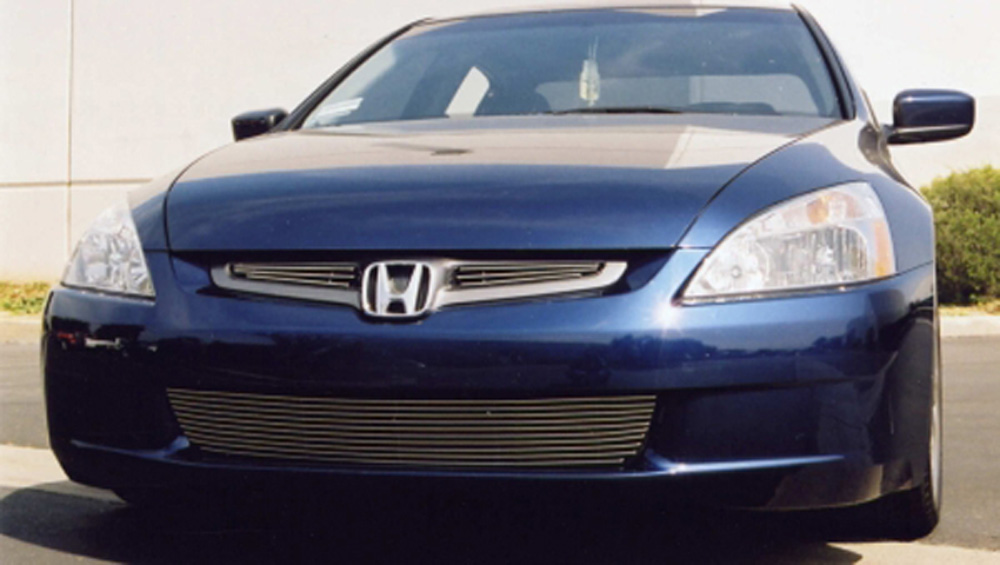 Accord Grille Overlay 03-05 Honda Accord 4 Door Aluminum Polished 2 Piece Billet Series T-REX Grilles - 21730