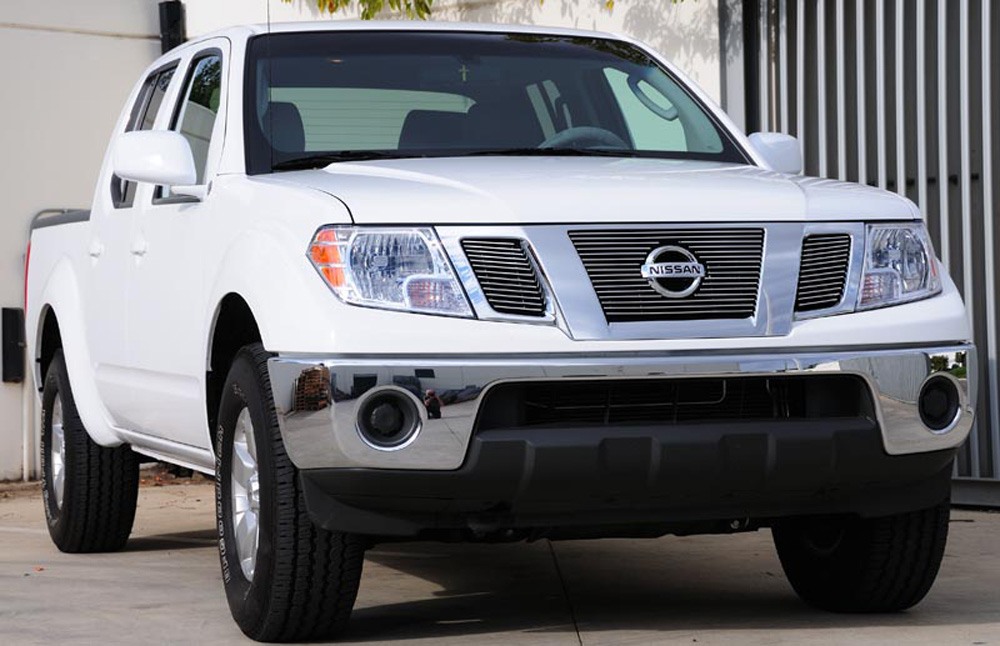 Frontier Grille Overlay 09-15 Nissan Frontier Aluminum Polished 3 Piece Billet Series T-REX Grilles - 21774