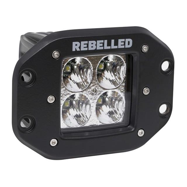 LED Light Pod 2 Inch Flood Pattern Flush Mount Each REBELLED - 22020F