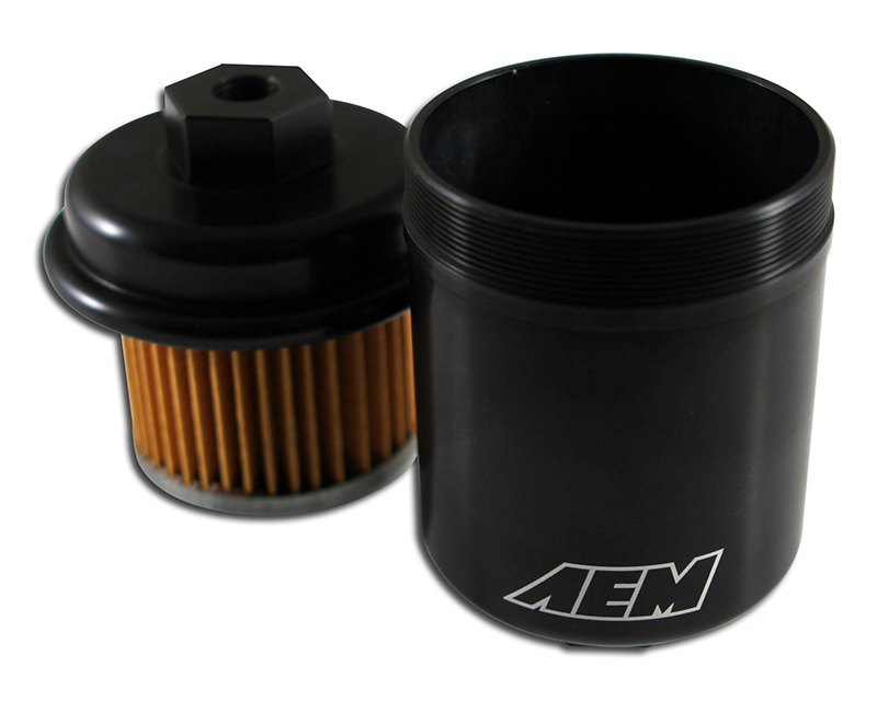 AEM Electronics High Volume Fuel Filter Honda Civic VX 1.5L | 1493ccL4 [D15Z1] 94-95 - 25-200BK