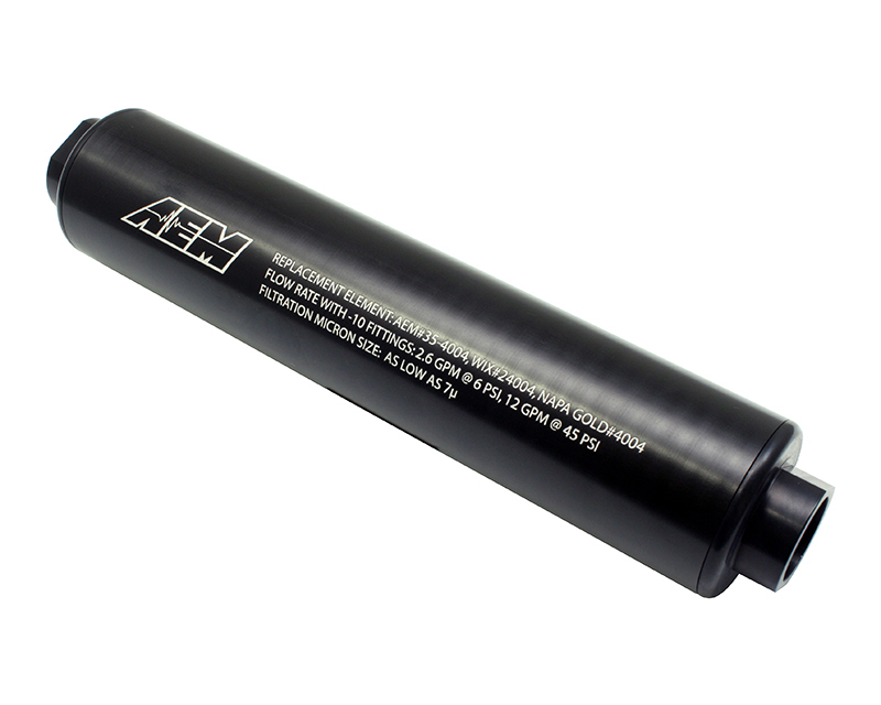 AEM Electronics High Volume Fuel Filter Universal - 25-201BK