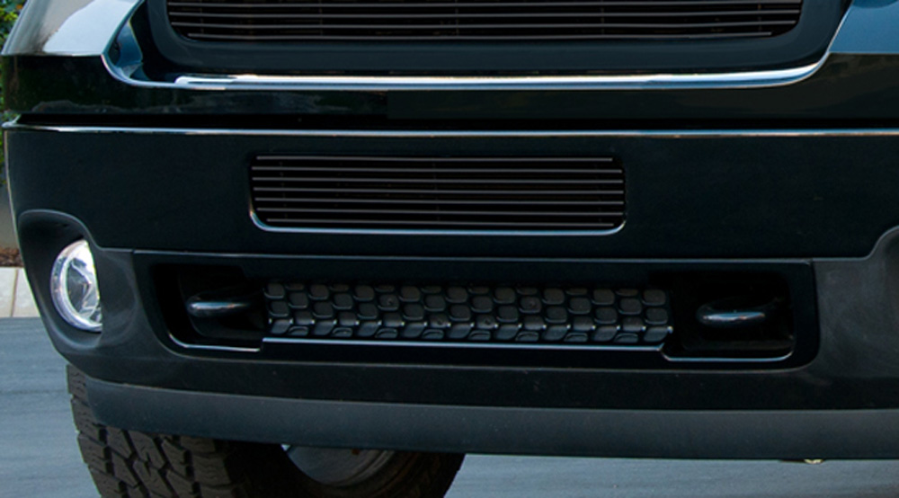Sierra HD Bumper Grille 11-14 GMC Sierra HD Aluminum Powdercoat Black Billet Series T-REX Grilles - 25209B