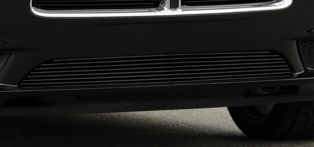 Charger Bumper Grille 11-14 Dodge Charger Aluminum Powdercoat Black Billet Series T-REX Grilles - 25442B