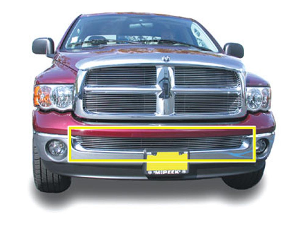 Ram Bumper Grille Insert 02-08 Dodge Ram Not Sportand Diesel Aluminum Polished Billet Series T-REX Grilles - 25465