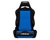 Image of Corbeau LG1 Reclining Seat in Black Blue Cloth 25505