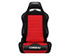 Image of Corbeau LG1 Reclining Seat in Black Red Cloth 25507