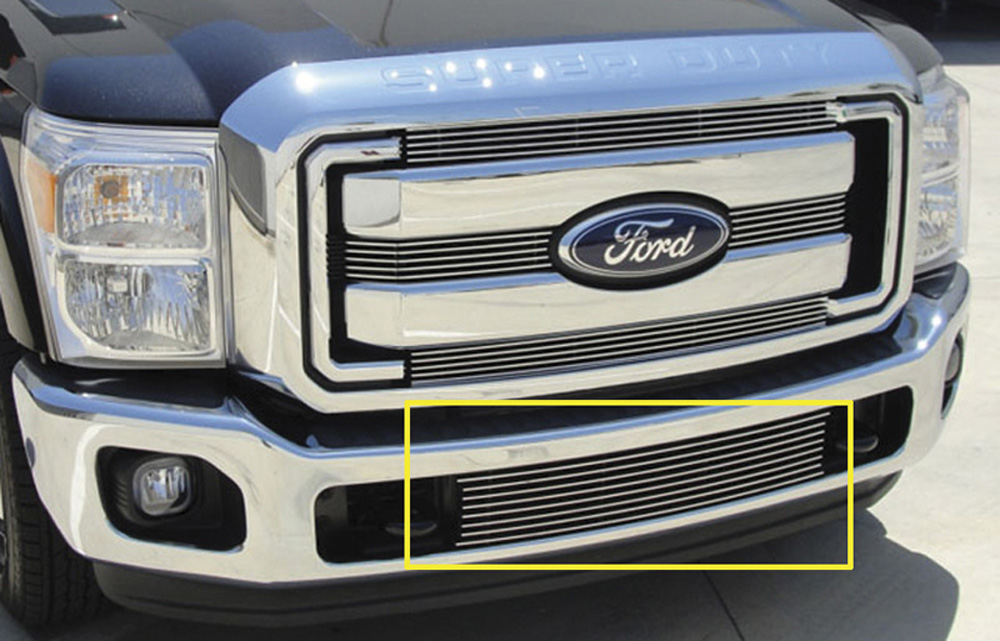 Super Duty Bumper Grille Insert 11-16 Ford Super Duty Aluminum Polished Billet Series T-REX Grilles - 25546