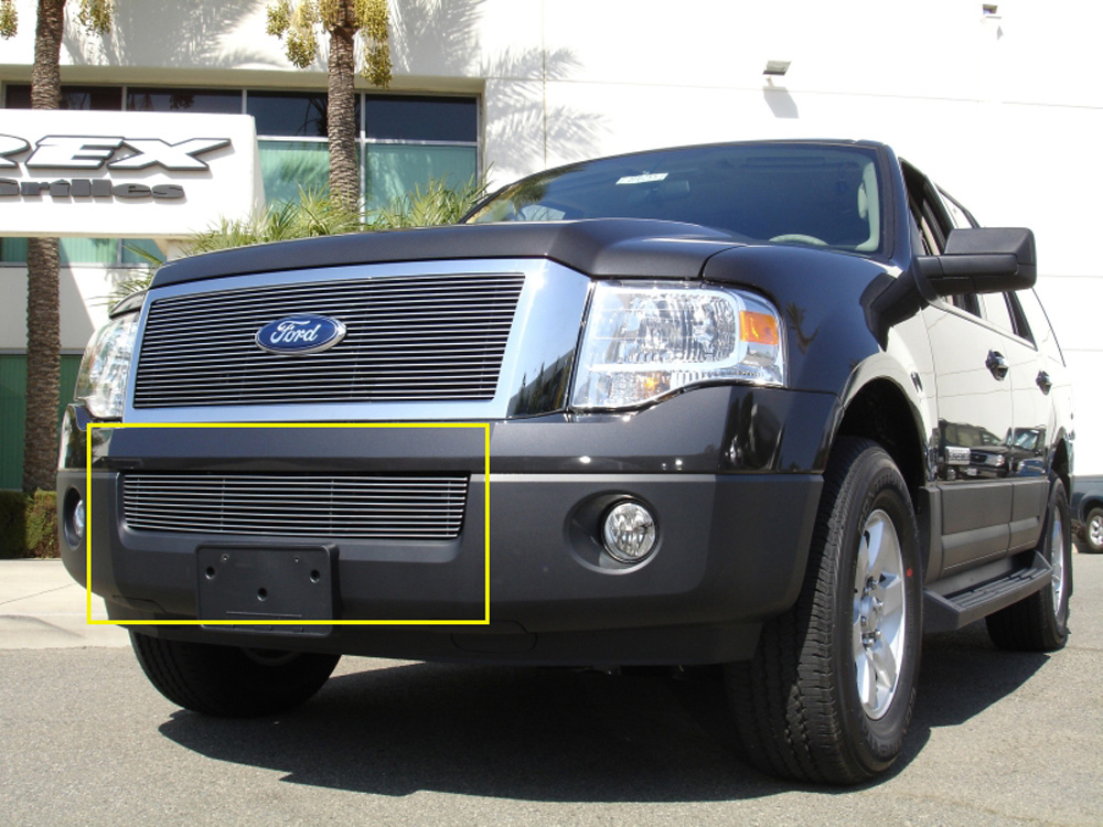 Expdition Bumper Grille 07-14 Ford Expdition Aluminum Polished Billet Series T-REX Grilles - 25594
