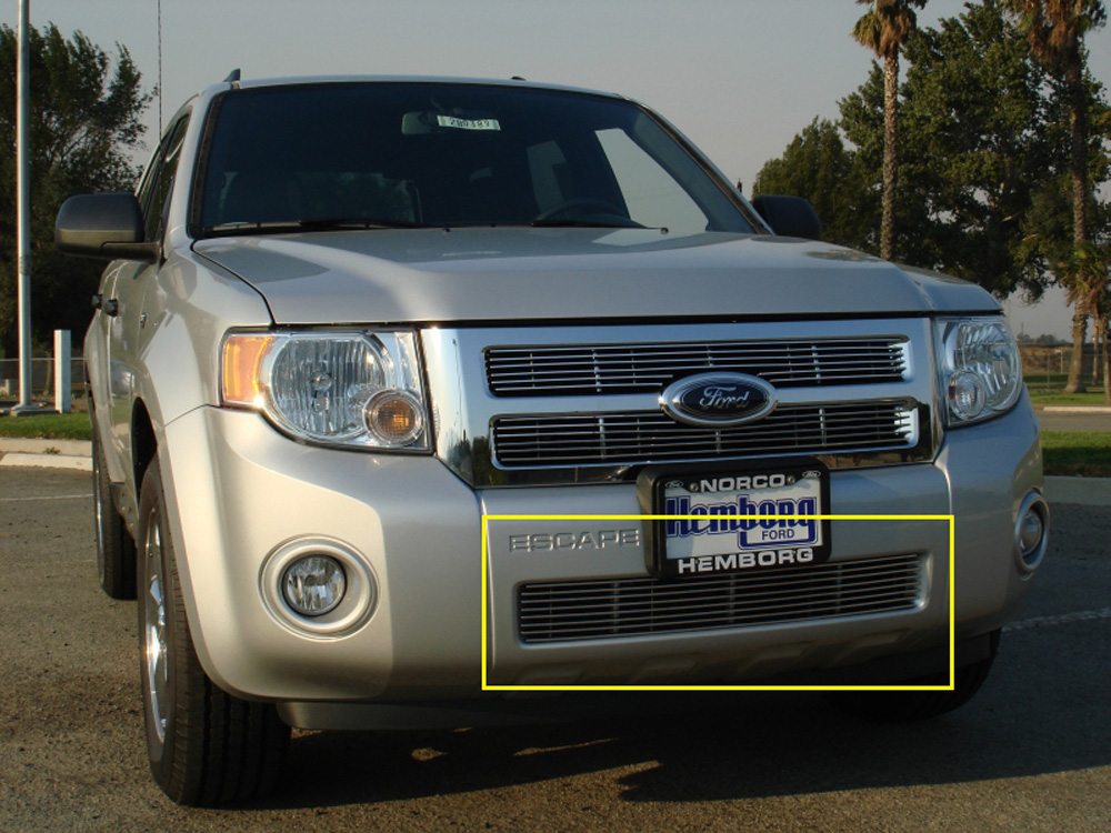 Escape Bumper Grille 08-12 Ford Escape Aluminum Polished Billet Series T-REX Grilles - 25649