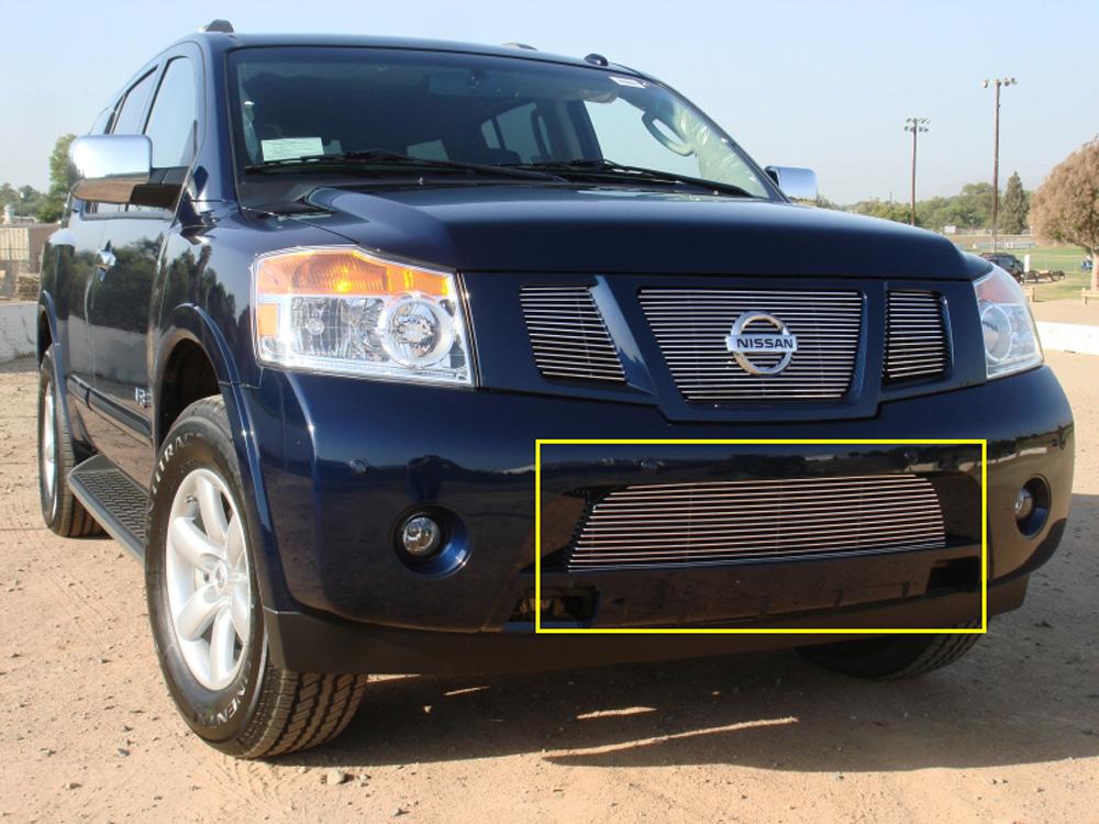 Armada Bumper Grille 08-14 Nissan Armada Aluminum Polished Billet Series T-REX Grilles - 25782