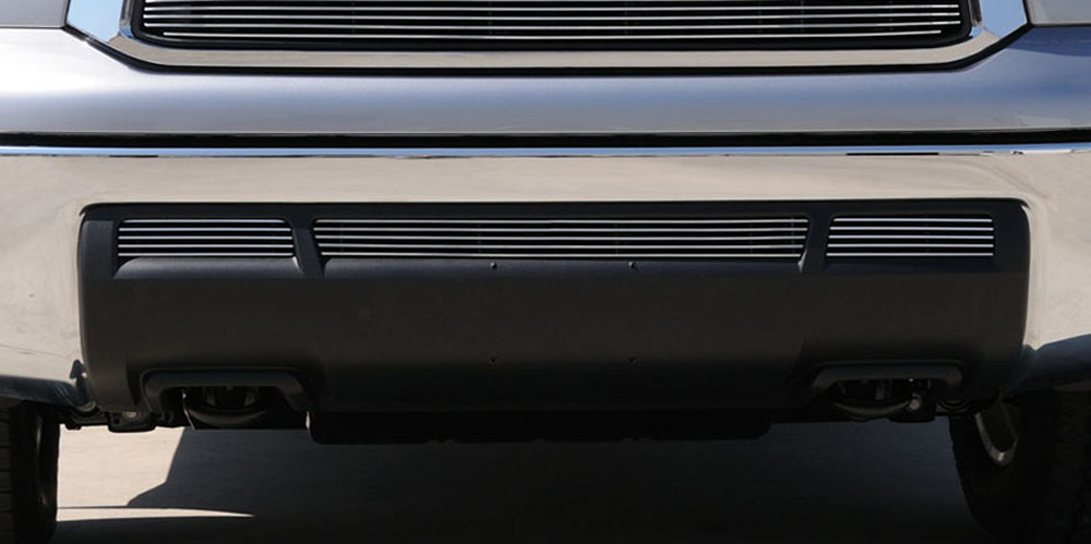 Tundra Bumper Grille Insert 10-13 Toyota Tundra Aluminum Polished 3 Piece Billet Series T-REX Grilles - 25961
