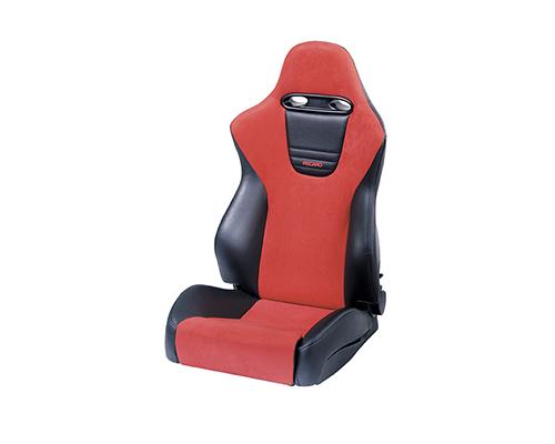recaro sport left seat black vinylred suede red logo