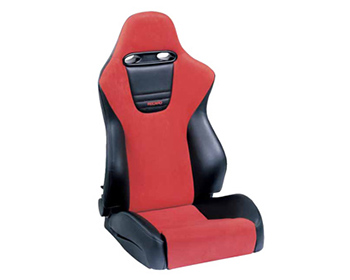 recaro sport right seat balck vinylred suede red logo