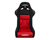 Image of Corbeau FX1 Pro Seats Fixed Back in Black Red Cloth 29507P