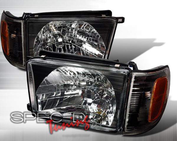 SpecD Black Housing Headlights Toyota 4-Runner 99-02 - 2LCLH-4RUN99JM-KS