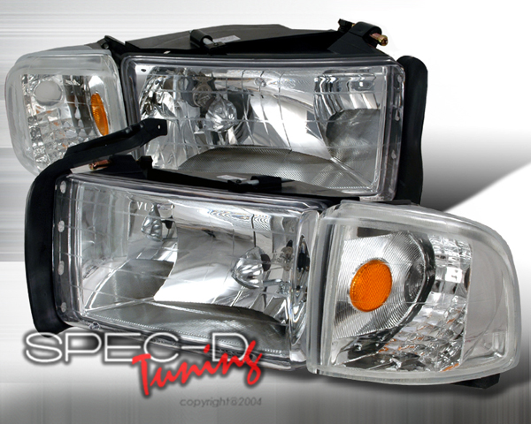 SpecD Chrome Housing Headlights Dodge Ram 94-01 - 2LCLH-RAM94-KS