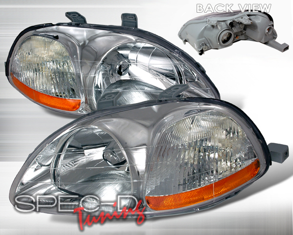 SpecD Crystal Housing Headlights Honda Civic 96-98 - 2LH-CV96-KS