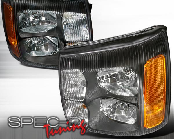 SpecD Black Housing Headlights Cadillac Escalade 02-06 - 2LH-ECLD02JM-DP