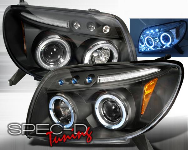 SpecD Black Projector LED Headlights Toyota 4-Runner 03-05 - 2LHP-4RUN03JM-TM