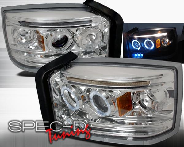 SpecD Chrome Halo Projector Headlights Dodge Dakota 05-08 - 2LHP-DAK05-TM
