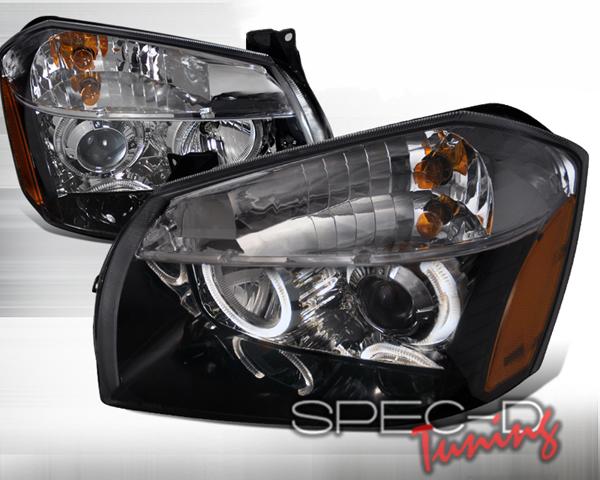 SpecD V1 Black Halo LED Projector Headlights Dodge Magnum 05-08 - 2LHP-MAG05JM-DP