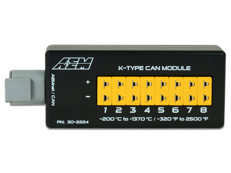 AEM 8-Channel K-Type Thermocouple EGT CAN Module - 30-2224