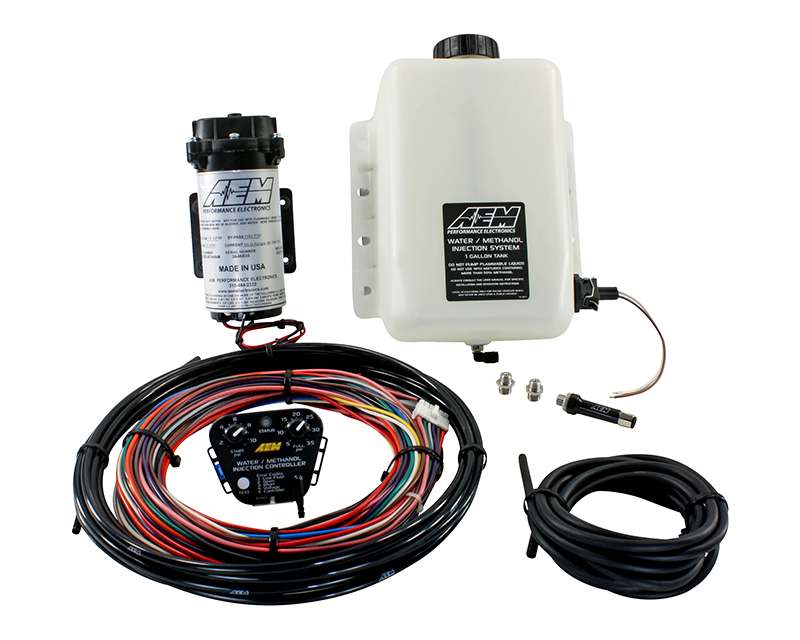 AEM Electronics V2 Water Methanol Injection Kit Standard Controller 1 Gallon Tank - 30-3300