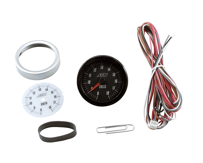 AEM Analog Volts Gauge 8~18V Universal - 30-5139