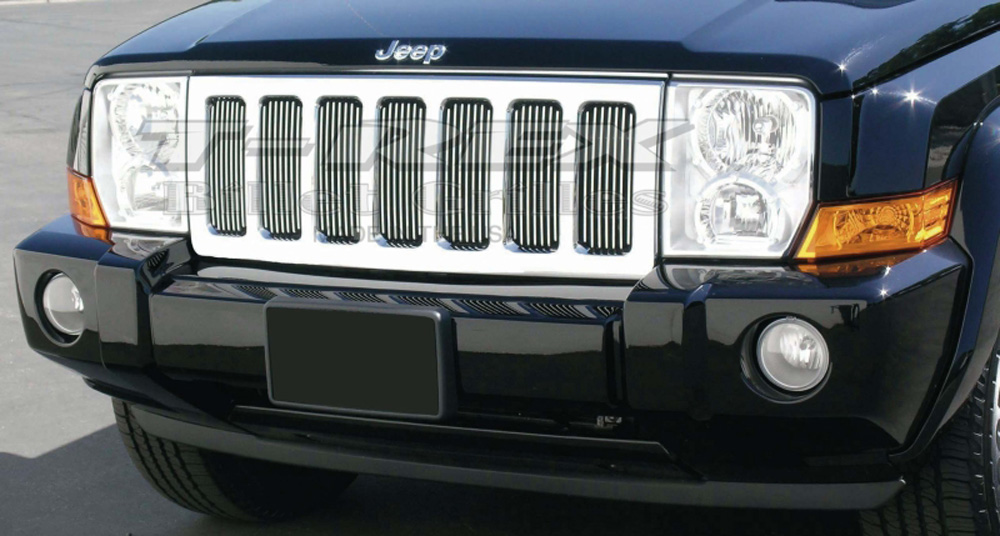 Commander Grille Insert 06-10 Jeep Commander Aluminum Polished Billet Series T-REX Grilles - 30485