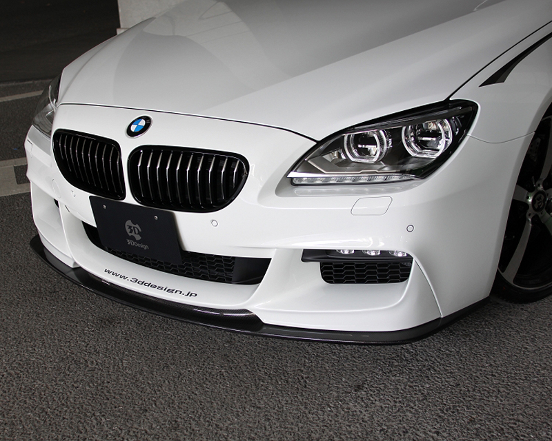 Image of 3D Design Carbon Fiber And Urethane Front Lip Spoiler BMW 6 Series F06 F12 F13 M Sport 12-15