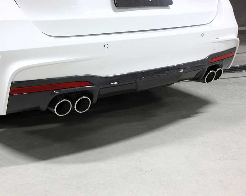 3d Design Carbon Fiber Rear Diffuser Quad Tip Bmw 328i F30