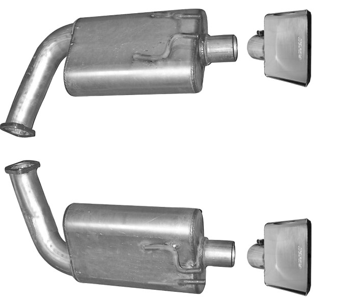 Gibson Performance Axle Back Dual Exhaust System Aluminized - 318002