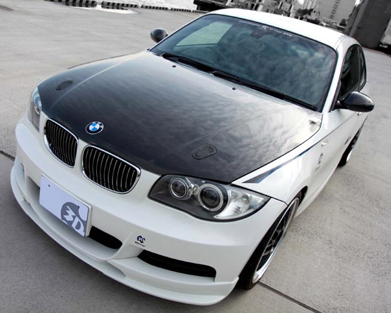 Image of 3D Design Carbon Fiber Bonnet With Aerocatch Latches BMW 1 Series E82 05-14