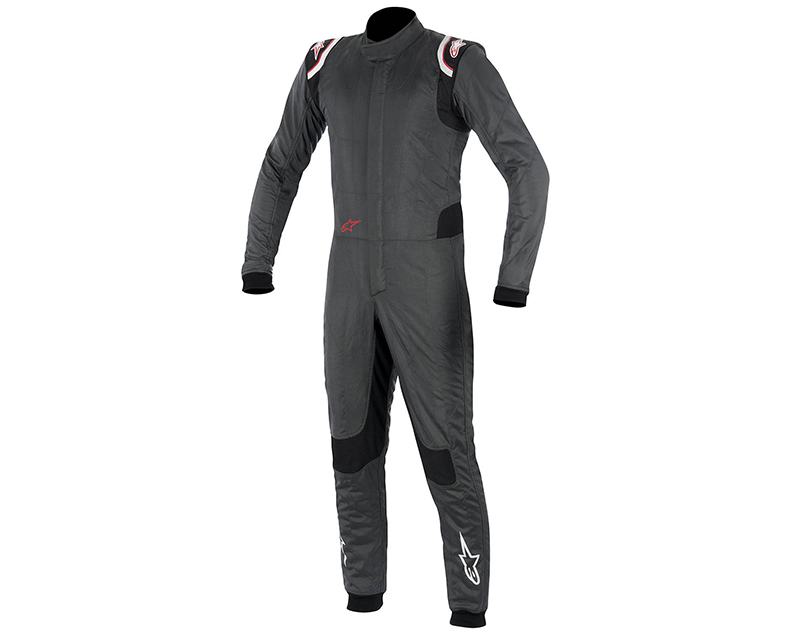 Alpinestars Anthracite, Black and Red Supertech Racing Suit Size EU 48 | US 38 - 3350015-1431-48