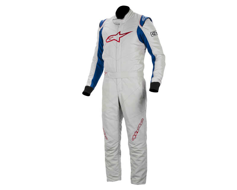 Image of Alpinestars GP Racing Suit Silver Blue