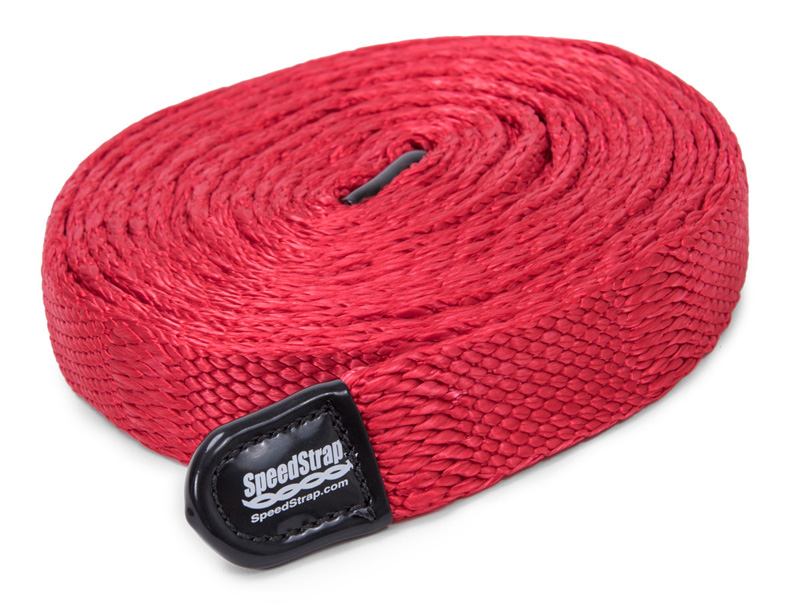 1 Inch SuperStrap Weavable Recovery Strap 25 Foot Red Nylon SpeedStrap - 34125