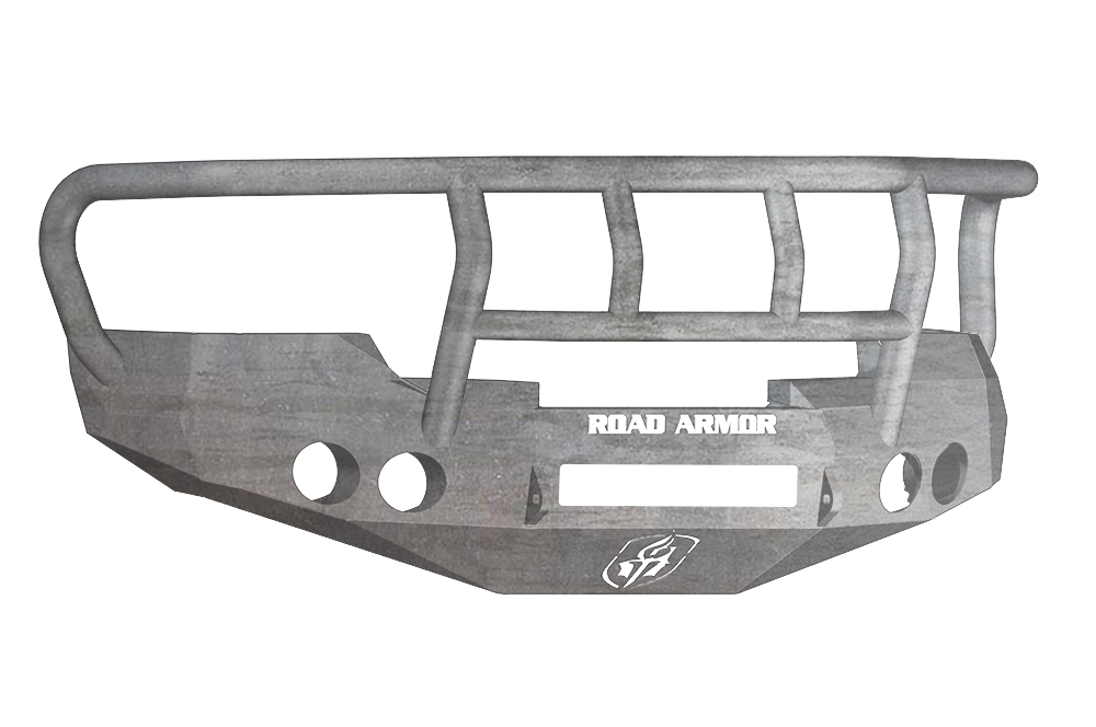 CHEVY 1500 SILVERADO 08-13 Front Stealth Non-Winch Bumper Round Light Port Titan II Guard RAW Road Armor - 37702Z-NW