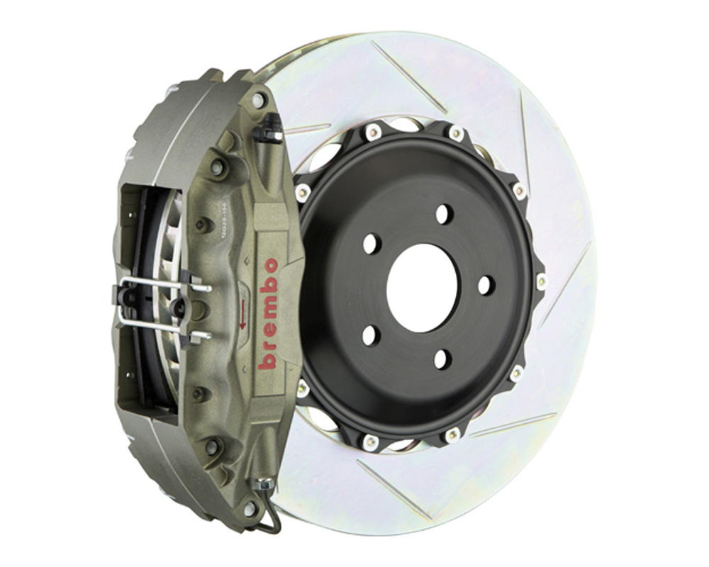 Brembo Race 332x32mm2-Piece 4-Piston Iron Slotted Big Brake Kit - 3K2.7002A